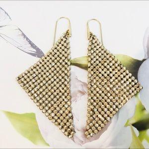 Vintage Swarovski 14k Gold Plated Fit Earrings